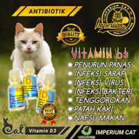 Vitamin D3 Antibiotik, Penurun Panas dan Sakit Saraf Kucing
