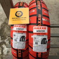 1 Set Ban Motor Maxxis M922R 100/90 - 110/90 Ring 12 Tubeless
