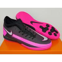 Sepatu Futsal Nike Phantom GT Academy Dynamic Fit Black Pink Blast