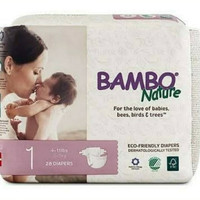 Bambo Nature Dream tape diapers Popok perekat NB tape size 1 isi 28