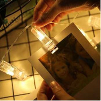 Clip Foto Polaroid 20 Led 2m Dekorasi Pesta Ulang tahun Wedding Kamar