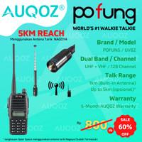 AUQOZ x Pofung UV82 Radio HT Handy Walkie Talkie + Nagoya Antena Tarik