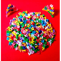 mainan anak lego klasik lego peluru isi 100 pcs / puzzle lego Susun