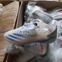 Sepatu Bola Adidas X Ghosted.1 White Blue Orange FG