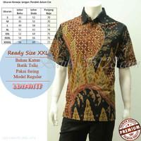 Baju Batik Pria Tulis Asli Jumbo Lengan Pendek Furing Size XXL [ldtf]