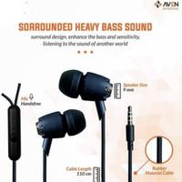 EARPHONE AVEN N21 PREMIUM SOUND EARBUD / HANDSFREE / HEADSET - BLACK