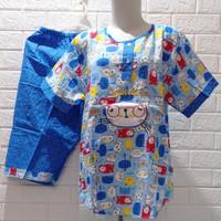 Baju Tidur HOKI&SHEILA Katun Wanita celana 3/4 (baby cat 1)