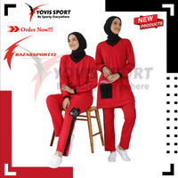 BS12 Terbaru Stelan Baju Olahraga Wanita Semi tunik Muslimah Yovis
