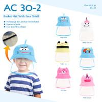 topi face Shield bayi sampai anak / topi anak / topi bayi / face Shiel