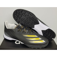 Sepatu Futsal Adidas X Ghosted.1 Black Gold White - TURF