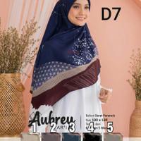 jilbab Hijab kerudung segi empat motif syari aubrey warna kuning merah