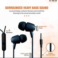 EARPHONE AVEN N21 PREMIUM SOUND EARBUD/HANDFREE/HEADSET-BLACK
