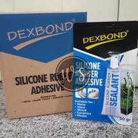 Lem kaca lem aquarium dexbond silicone rubber sealant tube kecil 30gr