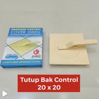 Tutup Bak Kontrol / Drainage Control Cover 20 x 20 ABS Alinco Cream