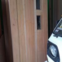 pintu panel kayu mahoni