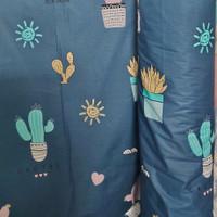 kain bahan sprei meteran katun beverly motif cactus sunshine