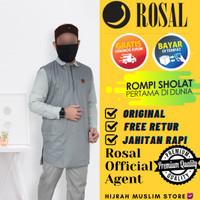 Rompi sholat Bahan Premium Gamis Koko Kaos Kurta Pakistan ROSAL MADANI - XXXL, KUNYIT