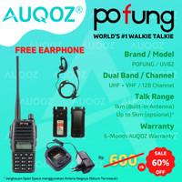 AUQOZ x Pofung UV82 Handy Walkie Talkie - Radio HT UHF VHF