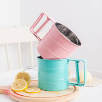 color stainless flour sifter / saringan ayakan tepung