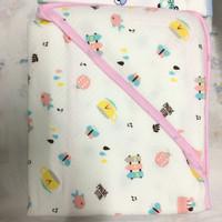 Selimut Topi Bayi Motif Bintik - Bee Pink