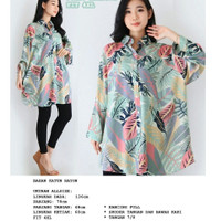 BM - Tropical Island Bigsize Tshirt Baju Kemeja Jumbo Wanita SBB