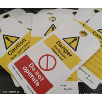Safety Tag Danger Equipment Locked Out Bahan PVC
