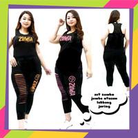 setelan baju olahraga senam erobic zumba fitness gym