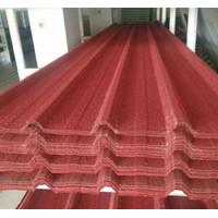 Spandek pasir / atap metal berpasir dengan bahan dasar 0.30mm full SNI