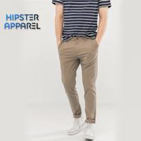 Hipster celana panjang chino besar big size warna MOCCA/BEIGE