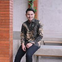Baju Batik Pria Panjang Furing Katun Halus Batik Merak Jumbo XXXXL 6L