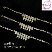 konektor masker hijab fashion diamond / headpiece hijab pesta murah