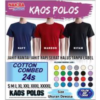 Kaos Polos Distro / Cotton Combed 20s / 24s / Lengan Pendek / tshirt
