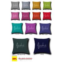 Cover Cushion Sarung Bantal Sofa Kursi Tamu Modern Motif Polos 40x40 - Random