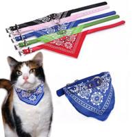 kalung kucing bentuk bandana scarf