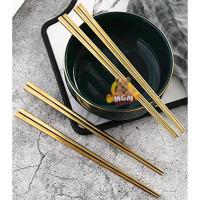 Gold SUJEO sumpit makan emas korea Gold dinner Chopstick korean