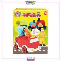 Mainan Fundoh Fire Fighter Lilin Fun Doh Playdough Edukasi Anak TM546