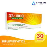 D3-1000 Suplemen Vitamin D3 - 30 Tablet