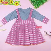 Dress Kiki size 1-4 Tahun / Overall Dress Anak Lengan panjang