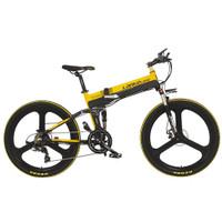 Lankeleisi Smart Moped Elite Version 48V 10.4AH XT750 - Sepeda Lipat - Black-Yellow