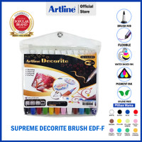ARTLINE Spidol Supreme Decorite Brush Marker SET 12 Colours EDF-F/12W