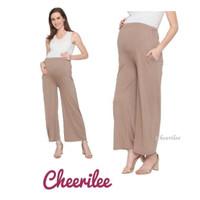Celana Kulot Ibu Hamil Cheerilee Bahan Spandex Stretch Casual Nyaman