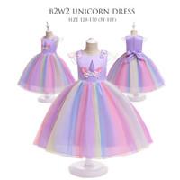 B2W2 DRESS TUTU PELANGI baju pesta anak perempuan baju princess baju p
