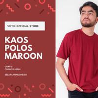 Kaos Polos / Baju Polos / Kaos Merah Maroon Termurah - M