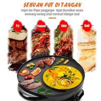 Alat BBQ Elektrik 2 in 1 Hot Pot Shabu Grill Pan Electric Serbaguna