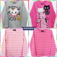 Kaos Anak Perempuan Lengan Panjang/ Baju Anak Perempuan Lengan Panjang