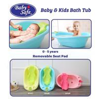 Baby Safe BT02 Baby & Kids Bathtub Bak Mandi Anak Bayi - Pink