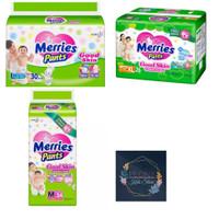 Pampers popok bayi Meries/Merries pants good skin S40 M34 L30 XL26