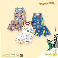 TERMURAH!! Velvet Junior Baju Anak Setelan Singlet Kutung HARGA 1 Stel