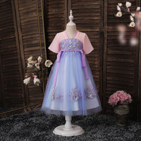 Dress Hanfu/Cheongsam/Imlek Anak &Remaja Perempuan-HFD1953 Purple Ungu