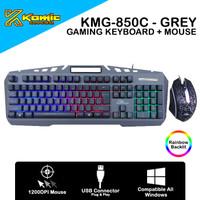 Gaming Combo Komic KMG-850C - 1200DPI Membrane Keyboard RGB - Grey
